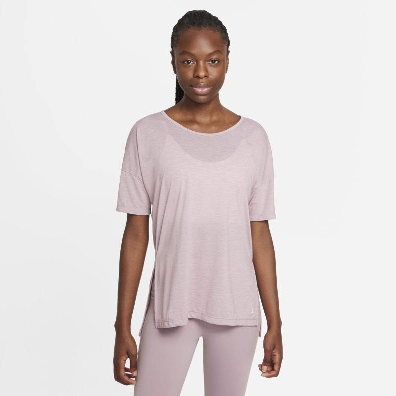 Nike Yoga Camiseta de manga corta - Mujer - Morado