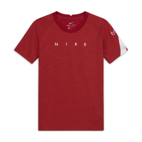 Nike Dri-FIT Academy Camiseta de fútbol de manga corta con estampado - Niño/a - Rojo