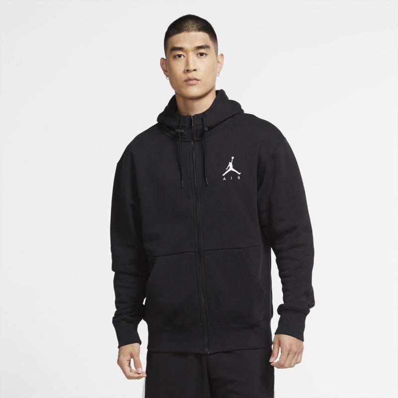 Jordan Jumpman Air Sudadera con capucha y cremallera completa de tejido Fleece - Hombre - Negro