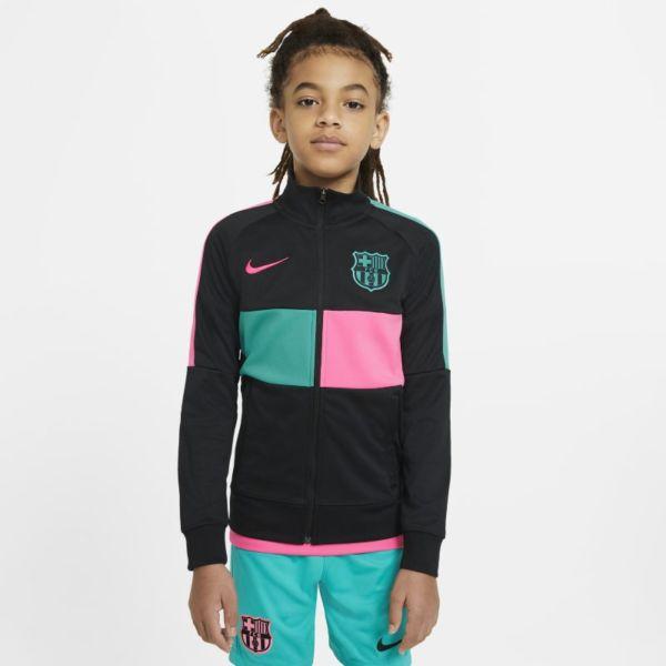 FC Barcelona Chaqueta deportiva de fútbol con cremallera completa - Niño/a - Negro