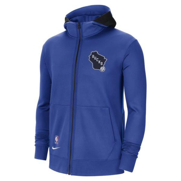 Milwaukee Bucks Showtime City Edition Sudadera con capucha Nike Therma Flex NBA - Hombre - Azul
