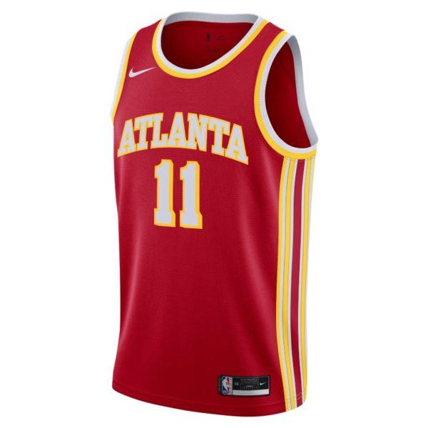 Trae Young Hawks Icon Edition 2020 Camiseta Nike de la NBA Swingman - Rojo