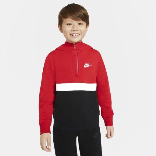 Nike Sportswear Sudadera con capucha con media cremallera - Niño - Rojo