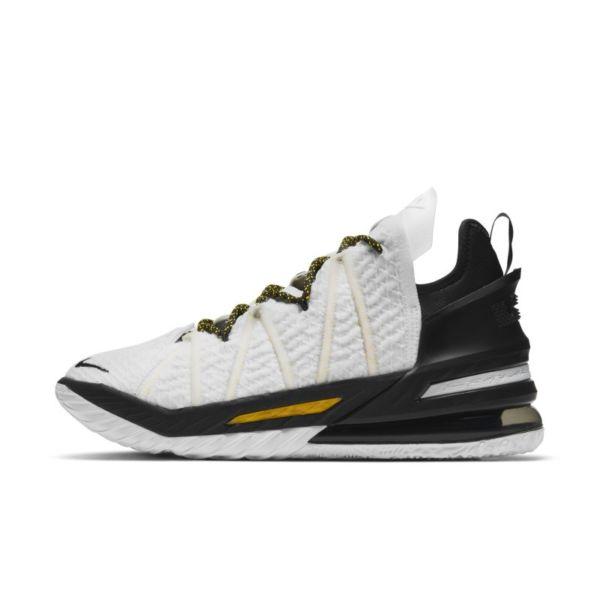 "LeBron 18 ""White/Black/Gold"" Zapatillas de baloncesto - Blanco"