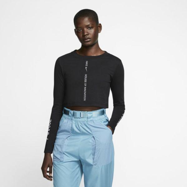 Nike Sportswear House of Innovation (Paris) Camiseta corta de manga larga - Mujer - Negro