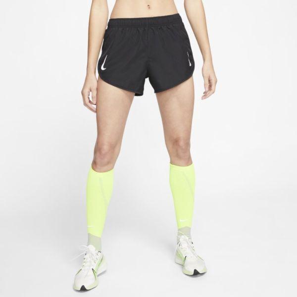Nike Tempo Pantalón corto de perfil alto de running - Mujer - Negro