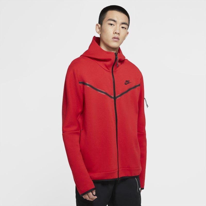 Nike Sportswear Tech Fleece Sudadera con capucha con cremallera completa - Hombre - Rojo