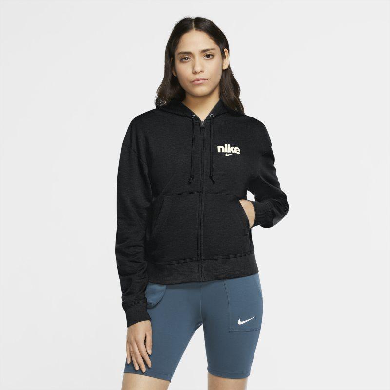 Nike Sportswear Sudadera con capucha de tejido Fleece con cremallera completa - Mujer - Negro