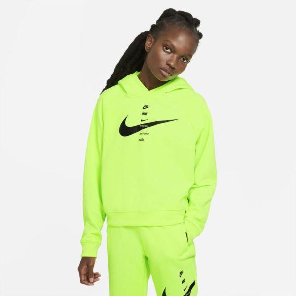Nike Sportswear Swoosh Sudadera con capucha - Mujer - Amarillo