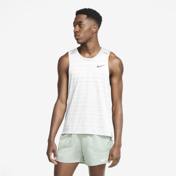 Nike Dri-FIT Miler Camiseta de tirantes de running - Hombre - Blanco