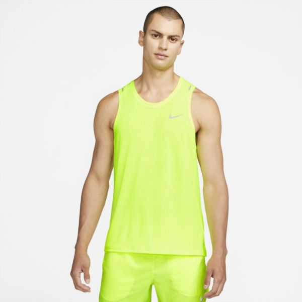 Nike Dri-FIT Miler Camiseta de tirantes de running - Hombre - Amarillo