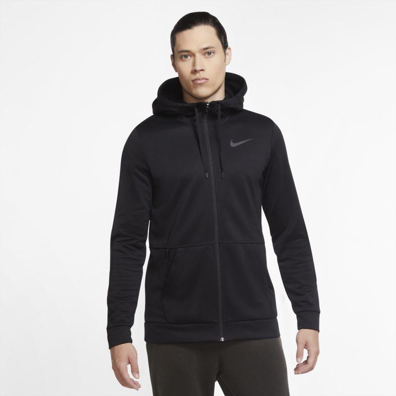 Nike Therma Sudadera de entrenamiento con capucha y cremallera completa - Hombre - Negro