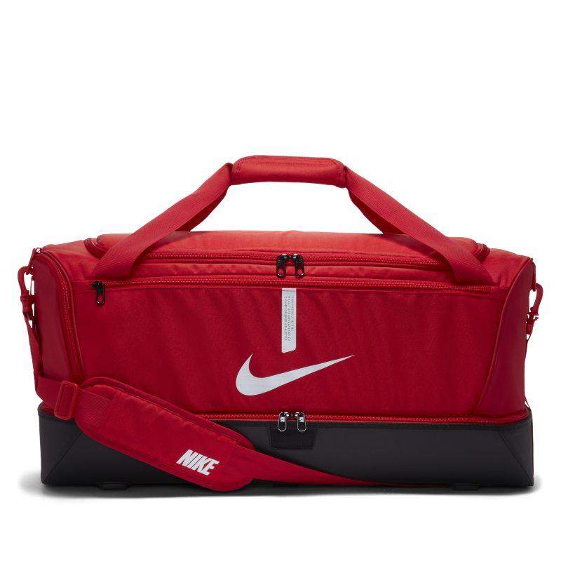 Nike Academy Team Bolsa de deporte de fútbol rígida (Grande) - Rojo