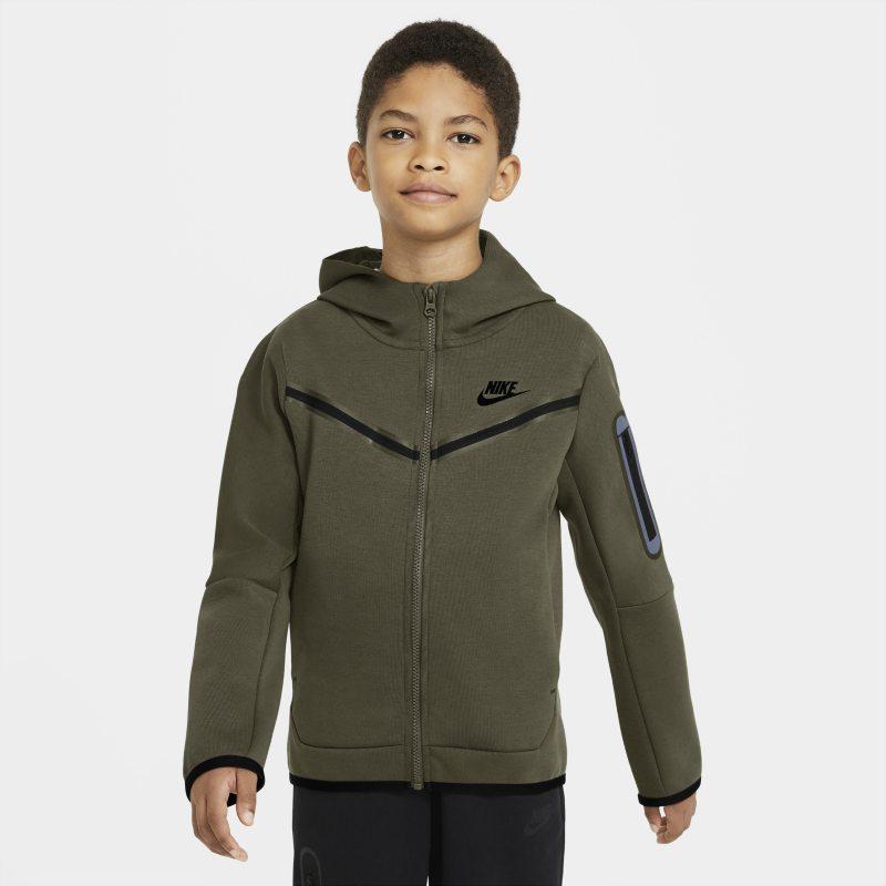 Nike Sportswear Tech Fleece Sudadera con capucha con cremallera completa - Niño - Verde