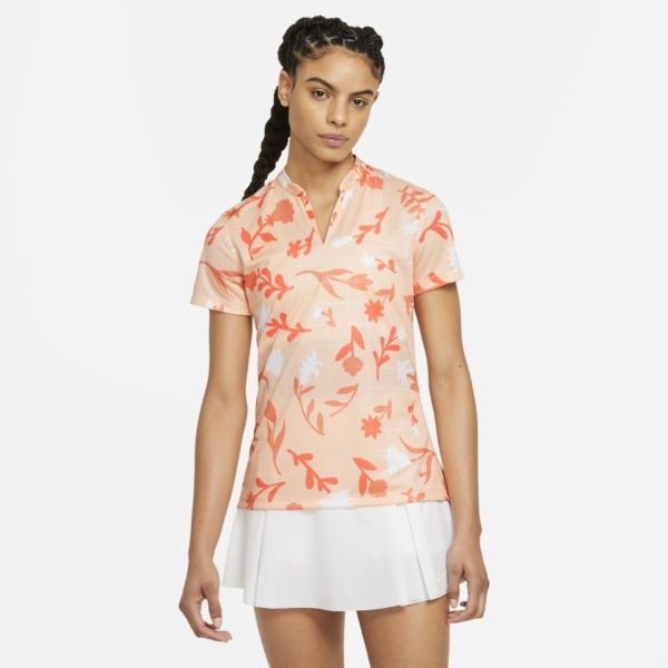 Nike Breathe Polo de golf con estampado - Mujer - Naranja