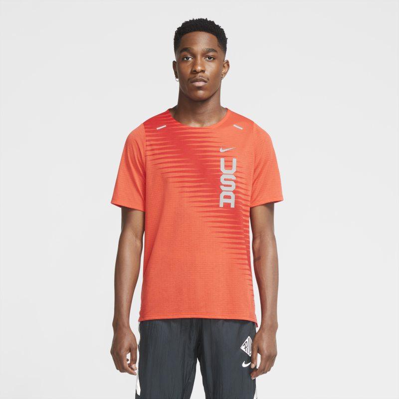 Nike Dri-FIT Team USA Rise 365 Camiseta de manga corta de running - Hombre - Rojo
