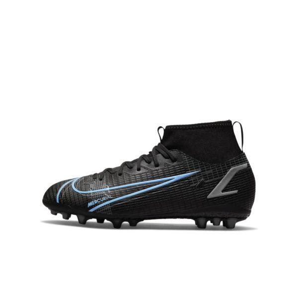 Nike Jr. Mercurial Superfly 8 Academy AG Botas de fútbol para césped artificial - Niño/a y niño/a pequeño/a - Negro