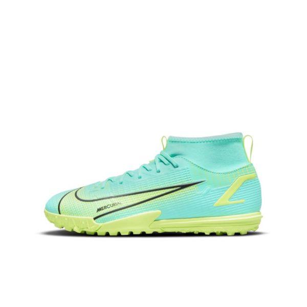 Nike Jr. Mercurial Superfly 8 Academy TF Botas de fútbol para hierba artificial o moqueta - Turf - Niño/a y niño/a pequeño/a - Azul