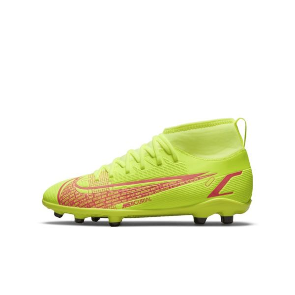 Nike Jr. Mercurial Superfly 8 Club MG Botas de fútbol multisuperficie - Niño/a y niño/a pequeño/a - Amarillo