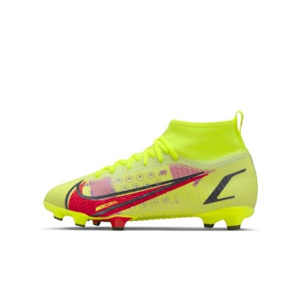 Nike Jr. Mercurial Superfly 8 Pro FG Botas de fútbol para terreno firme - Niño/a y niño/a pequeño/a - Amarillo