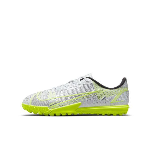 Nike Jr. Mercurial Vapor 14 Academy TF Botas de fútbol para moqueta - Turf - Niño/a y niño/a pequeño/a - Blanco