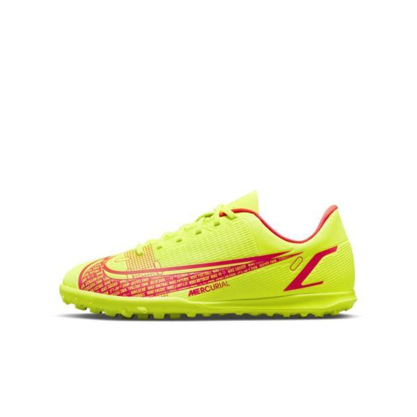 Nike Jr. Mercurial Vapor 14 Club TF Botas de fútbol para moqueta - Turf - Niño/a y niño/a pequeño/a - Amarillo