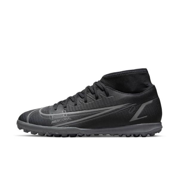 Nike Mercurial Superfly 8 Club TF Botas de fútbol para hierba artificial o moqueta - Turf - Negro