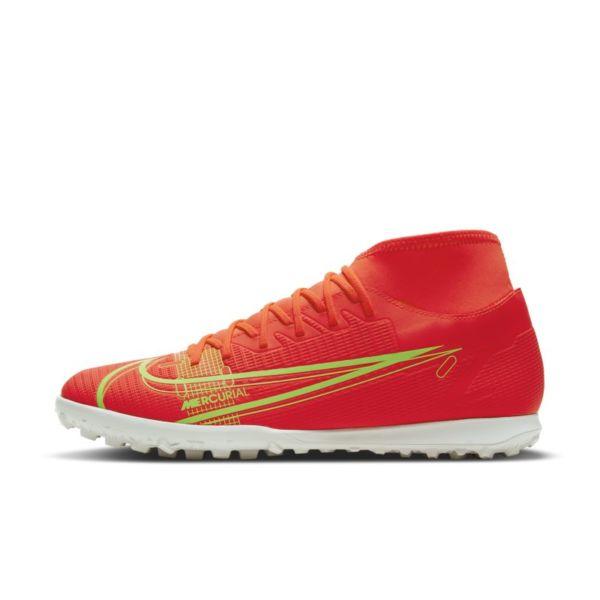 Nike Mercurial Superfly 8 Club TF Botas de fútbol para hierba artificial o moqueta - Turf - Rojo