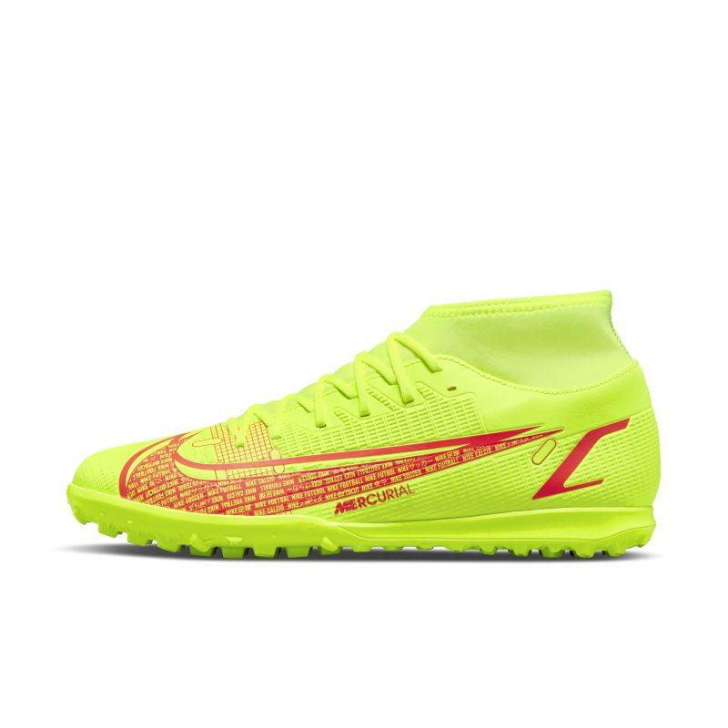 Nike Mercurial Superfly 8 Club TF Botas de fútbol para hierba artificial o moqueta - Turf - Amarillo