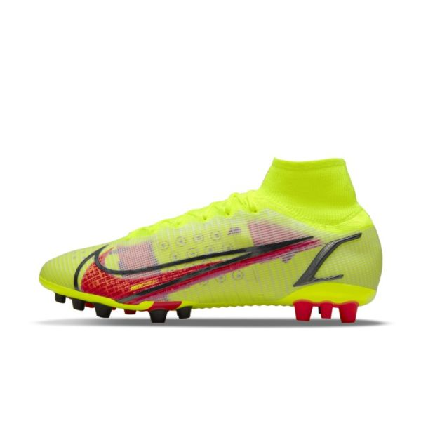Nike Mercurial Superfly 8 Elite AG Botas de fútbol para césped artificial - Amarillo