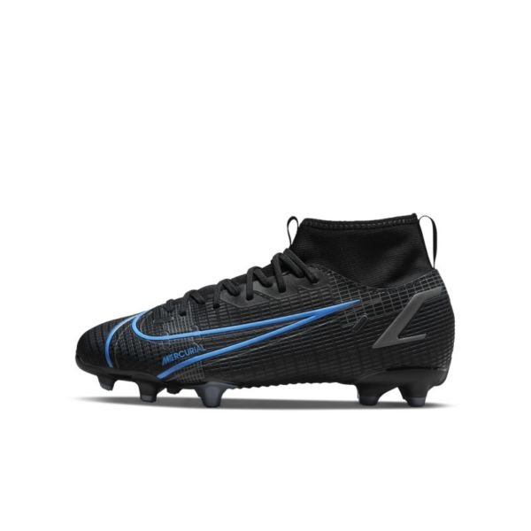 Nike Jr. Mercurial Superfly 8 Academy MG Botas de fútbol multisuperficie - Niño/a y niño/a pequeño/a - Negro