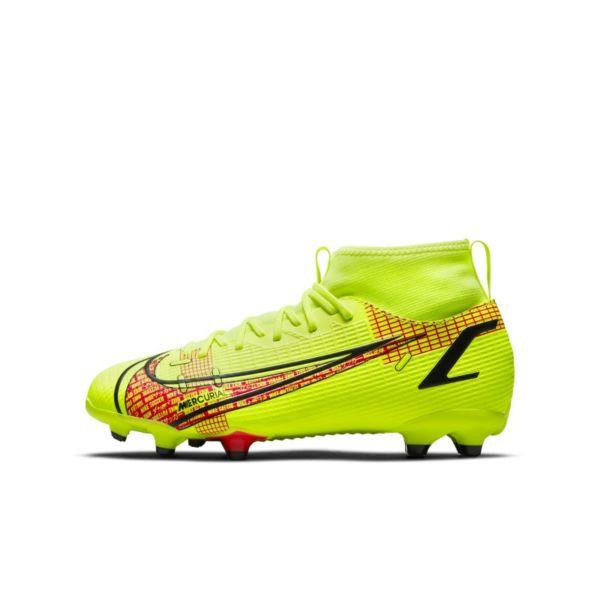 Nike Jr. Mercurial Superfly 8 Academy MG Botas de fútbol multisuperficie - Niño/a y niño/a pequeño/a - Amarillo