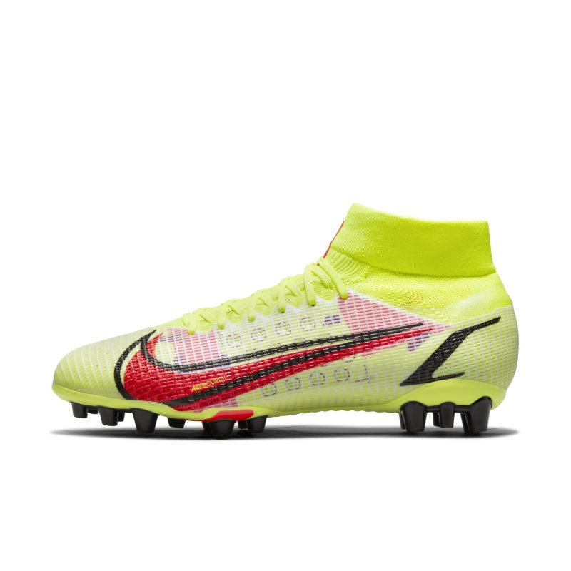 Nike Mercurial Superfly 8 Pro AG Botas de fútbol para césped artificial - Amarillo