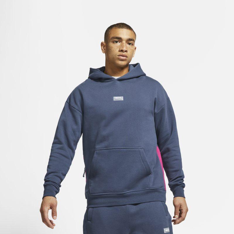 Nike F.C. Sudadera con capucha de fútbol de tejido Fleece - Hombre - Azul