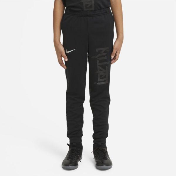 Nike Dri-FIT Kylian Mbappé Pantalón de fútbol de tejido Knit - Niño/a - Negro