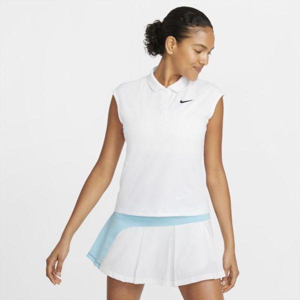 NikeCourt Victory Polo de tenis - Mujer - Blanco