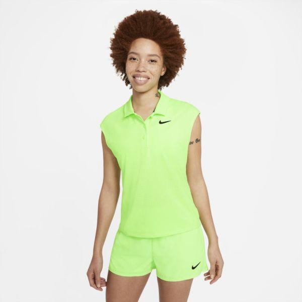 NikeCourt Victory Polo de tenis - Mujer - Verde