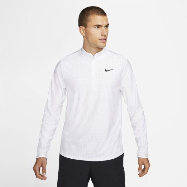 NikeCourt Dri-FIT Advantage Camiseta de tenis con media cremallera - Hombre - Blanco