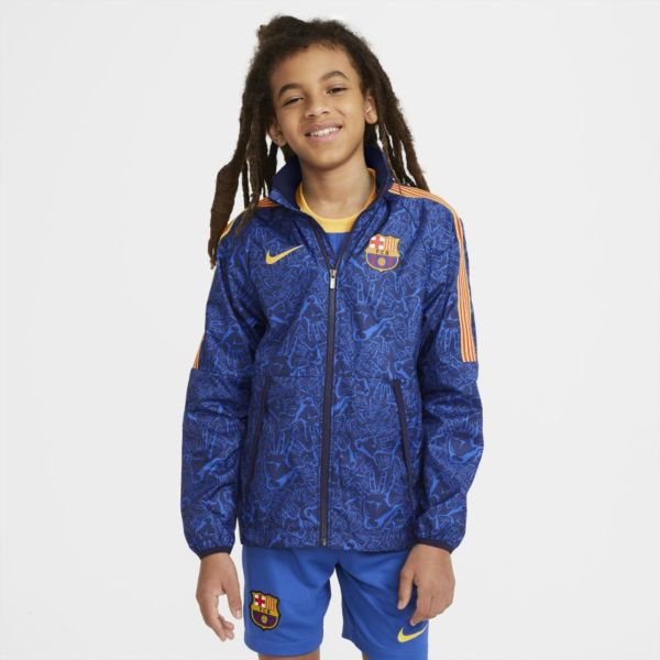 FC Barcelona AWF Chaqueta de fútbol - Niño/a - Azul