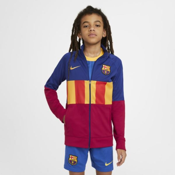 FC Barcelona Anthem Chaqueta deportiva de fútbol - Niño/a - Azul