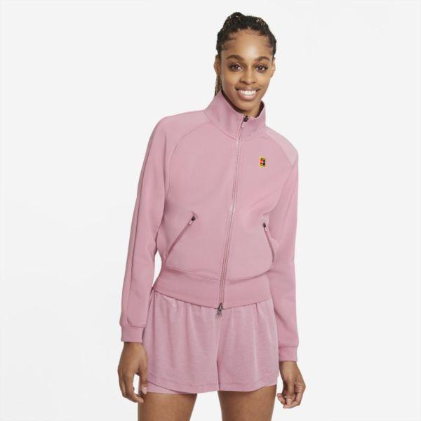NikeCourt Chaqueta de tenis con cremallera completa - Mujer - Rojo