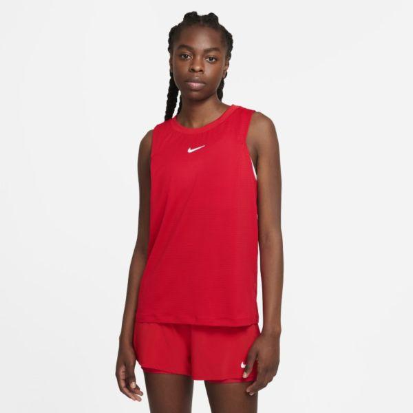 NikeCourt Advantage Camiseta de tirantes de tenis - Mujer - Rojo