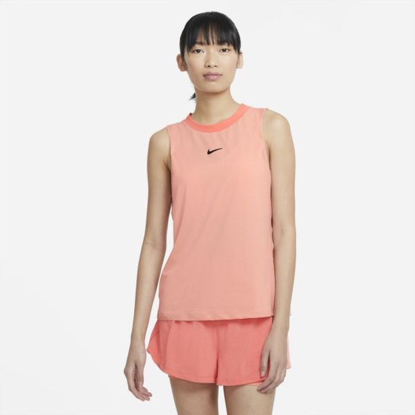 NikeCourt Advantage Camiseta de tirantes de tenis - Mujer - Naranja