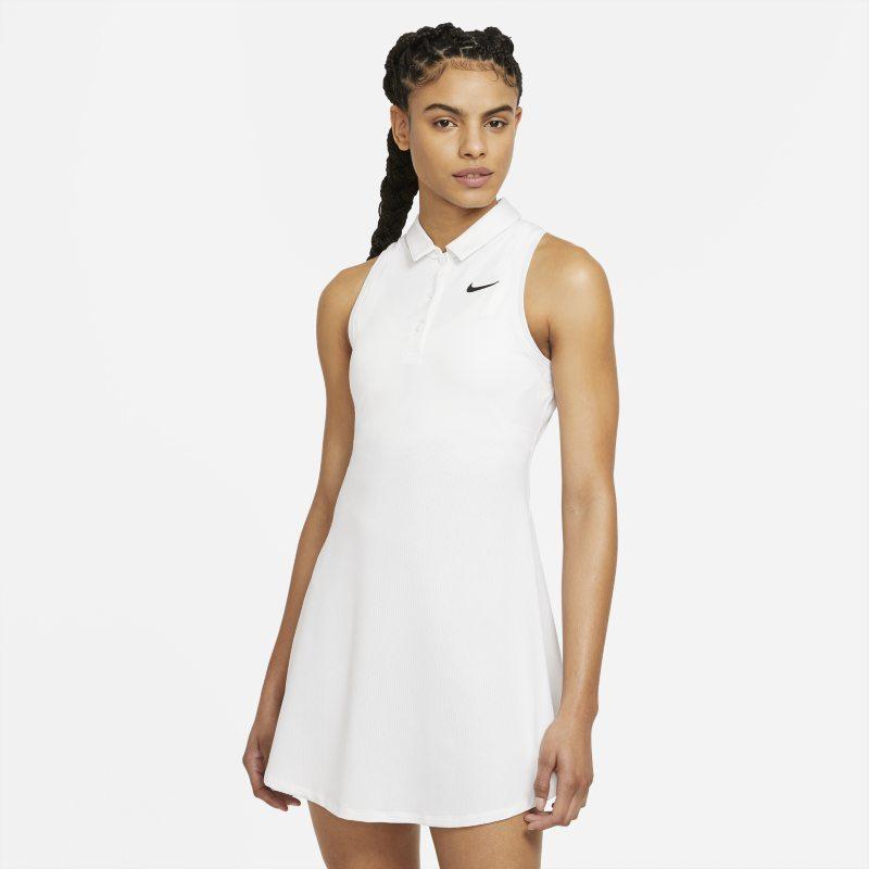 NikeCourt Victory Vestido tipo polo de tenis - Mujer - Blanco