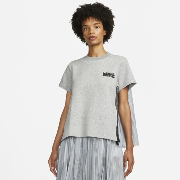 Nike x sacai Camiseta - Mujer - Gris