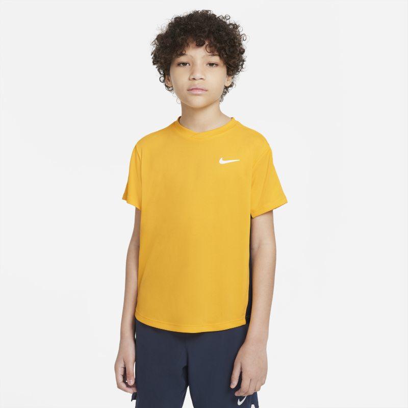 NikeCourt Dri-FIT Victory Camiseta de tenis de manga corta - Niño - Marrón