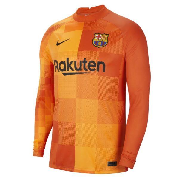 Equipación de portero Stadium FC Barcelona 2021/22 Camiseta de fútbol de manga larga - Hombre - Naranja