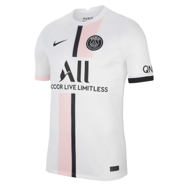 Segunda equipación Stadium París Saint-Germain 2021/22 Camiseta de fútbol Nike Dri-FIT - Hombre - Blanco