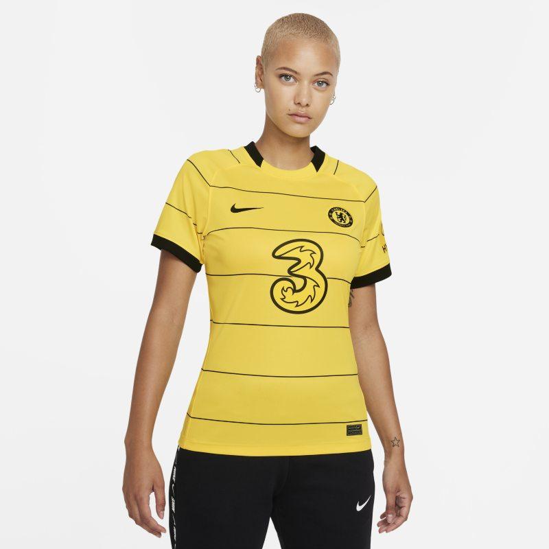 Segunda equipación Stadium Chelsea FC 2021/22 Camiseta de fútbol Nike Dri-FIT - Mujer - Amarillo