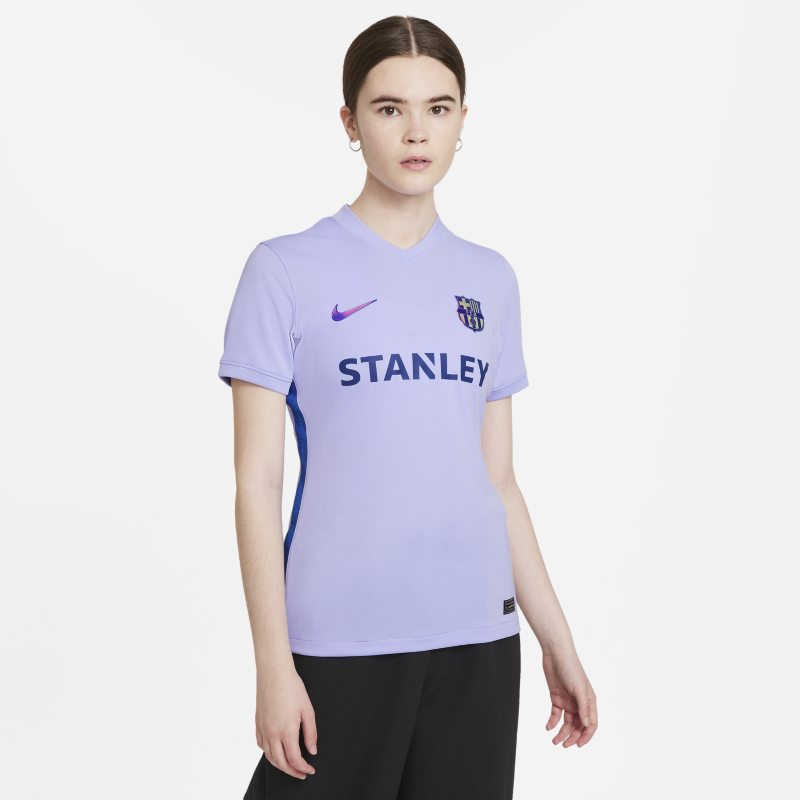 Segunda equipación Stadium FC Barcelona 2021/22 Camiseta de fútbol Nike Dri-FIT - Mujer - Morado